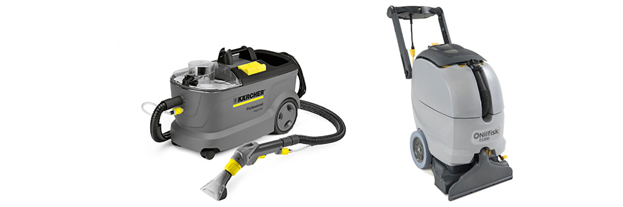 Spray extraction and carpet cleaning machine
