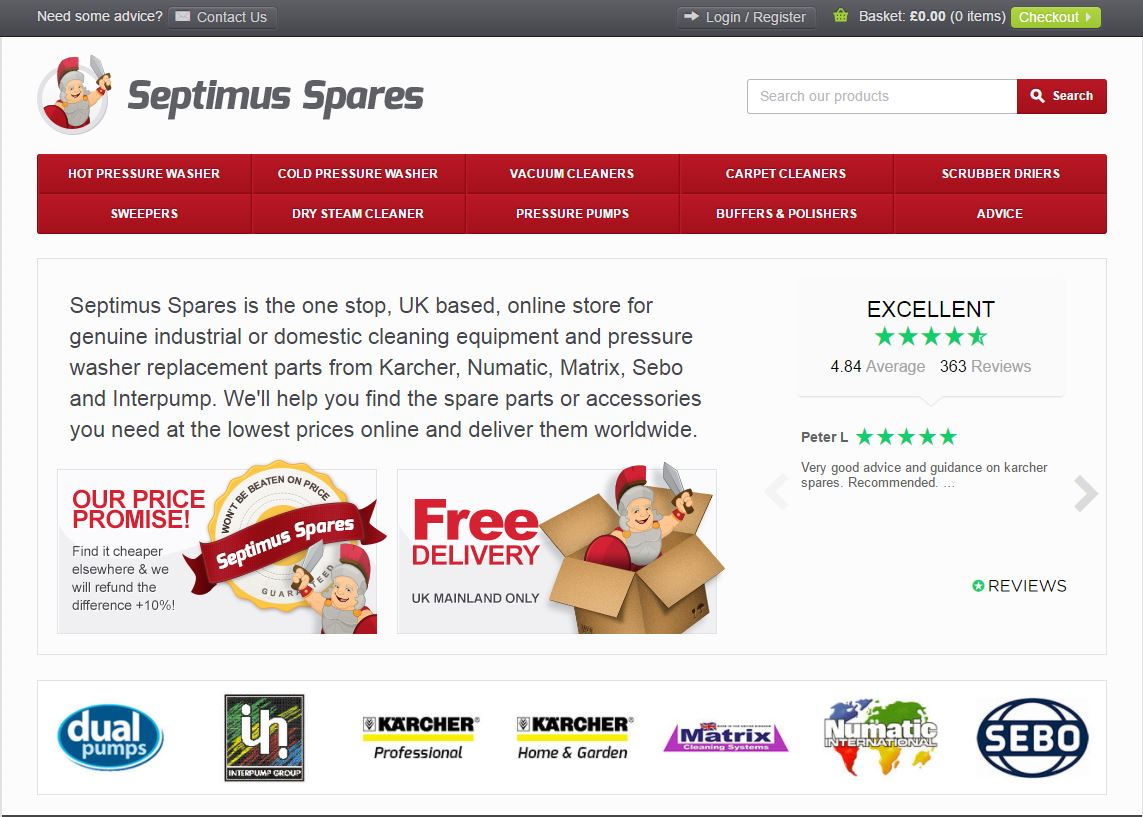 Septimus Spares Home Page